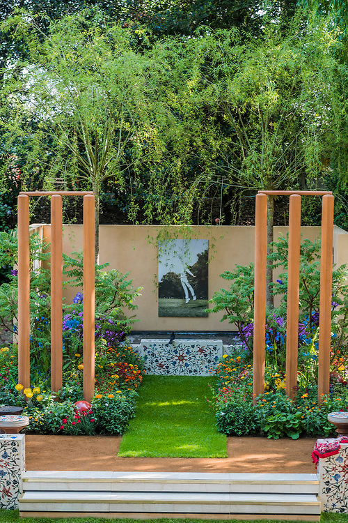 British Council Garden: India - A Billion Dreams, Commissioner: British Council India, Designer: Sarah Eberle and Contractor: Belderbos Landscape - The RHS Chelsea Flower Show at the Royal Hospital, Chelsea.