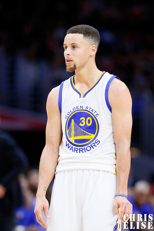 20 February 2016: Golden State Warriors guard Stephen Curry (30) is seen during the Golden State Warriors 115-112 victory over the Los Angeles Clippers, at the Staples Center, Los Angeles, California, USA.