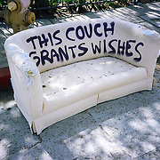 Abandoned Magic Couch. Griffith Park Blvd, Los Angeles, CA. July 2012 <br /> <br /> If you want it bad, you'll get it bad. The worse you want it, the worse you get it. Dumb looks are still free.<br /> <br /> &copy;2012 larry gassan
