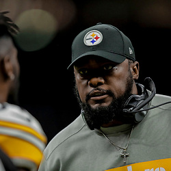 Dec 23, 2018; New Orleans, LA, USA; Pittsburgh Steelers head coach Mike Tomlin against the New Orleans Saints during the second half at the Mercedes-Benz Superdome. Mandatory Credit: Derick E. Hingle-USA TODAY Sports