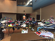 Clothing donations, diapers and non-perishable items were routed from M.C. Williams Middle School to the Acres Homes Multi-Service Center.