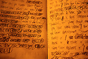 "EbGb's lyric book lays open at the recording studio. ""This is my Bible,"" EbGb says of the moleskin notebook he carries around in his pants pocket. Music is his therapy, something he hopes others will relate to. ""You wanna reach people and you wanna let people know, 'look you're goin' through some bullshit, but you're alright.'"""