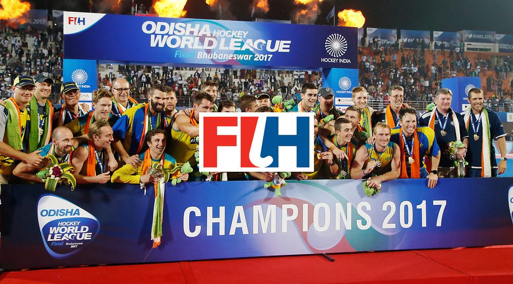 Odisha Men's Hockey World League Final Bhubaneswar 2017<br /> Match id:<br /> Ceremony<br /> Foto: Australia<br /> WORLDSPORTPICS COPYRIGHT KOEN SUYK
