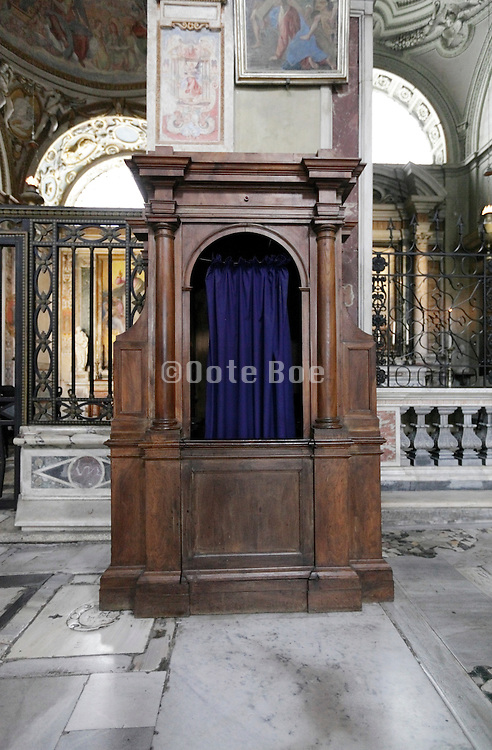 confessional Italy Rome