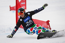 Edwin Coratti (ITA) competes during Final Run of Men's Parallel Giant Slalom at FIS Snowboard World Cup Rogla 2016, on January 23, 2016 in Course Jasa, Rogla, Slovenia. Photo by Ziga Zupan / Sportida
