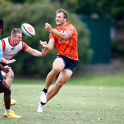 Andre Esterhuizen of the Cell C Sharks during the Cell C Sharks training session from theBox Hill Rugby Union Football Club  RHL Sparks Reserve, Canterbury Rd & Middleborough Road, Box Hill VIC 3128. Melbourne,Australia 20 February 2020. (Photo Steve Haag Sports -Hollywoodbets)