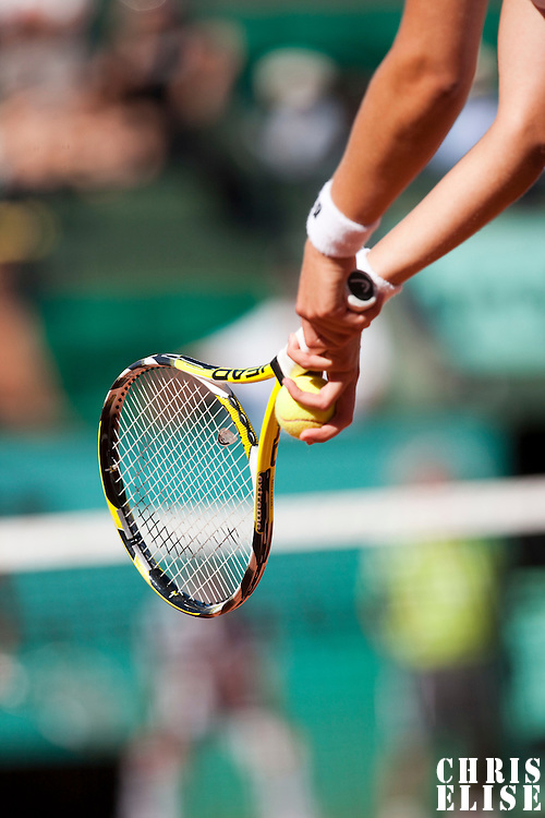 30 May 2009: Details of Maria Jose Martinez Sanchez of Spain during the Women's Third Round match on day seven of the French Open at Roland Garros in Paris, France.