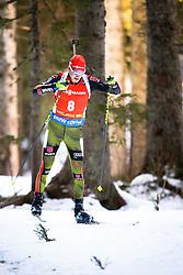 Benedikt Doll (GER) competes during Men 12,5 km Pursuit at day 3 of IBU Biathlon World Cup 2015/16 Pokljuka, on December 19, 2015 in Rudno polje, Pokljuka, Slovenia. Photo by Ziga Zupan / Sportida