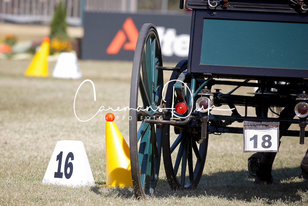 Cones driving competition <br /> Alltech FEI World Equestrian Games <br /> Lexington - Kentucky 2010<br /> &copy; Hippo Foto - Dirk Caremans