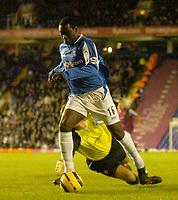 Photo: Glyn Thomas.<br />Birmingham City v West Ham United. The Barclays Premiership. 05/12/2005.<br /> Birmingham's Emile Heskey gives his side a 1-0 lead.