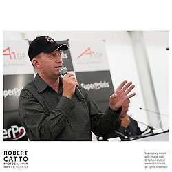 Michael Garlick at the Launch of the Bruce McLaren Movie project at the A1 Grand Prix of New Zealand at the Taupo Motorsport Park, Taupo, New Zealand.