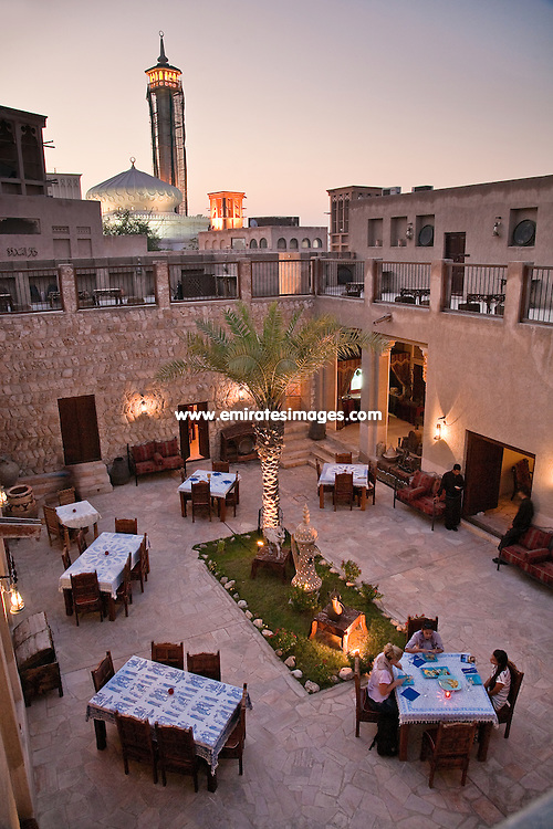Bastakiya Nights restaurant in Bastakiya area of Dubai