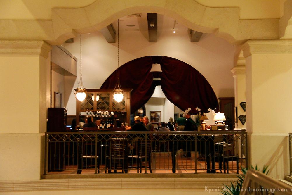 USA, Florida, Orlando. A lounge at Rosen Shingle Creek Resort.