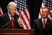 Former President Bill Clinton supports Congressman Ciro Rodriguez Thursday, October 14 2010 at Palo Alto College in San Antonio, TX. (Photo © Bahram Mark Sobhani).1EAO362854.0 x 36.0 inches