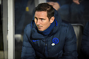 Chelsea FC Manager Frank Lampard before the The FA Cup match between Hull City and Chelsea at the KCOM Stadium, Kingston upon Hull, England on 25 January 2020.