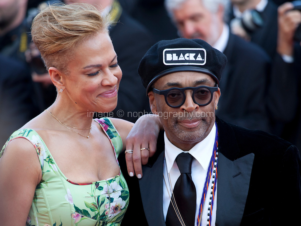 Producer Tonya Lewis Lee and Director Spike Lee at the Award Ceremony and The Man Who Killed Don Quixote at the The Man Who Killed Don Quixote gala screening at the 71st Cannes Film Festival, Saturday 19th May 2018, Cannes, France. Photo credit: Doreen Kennedy