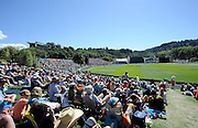 A General view of the university oval during the ICC Cricket World Cup match between New Zealand and Scotland at university oval in Dunedin, New Zealand. Photo: Richard Hood/photosport.co.nz