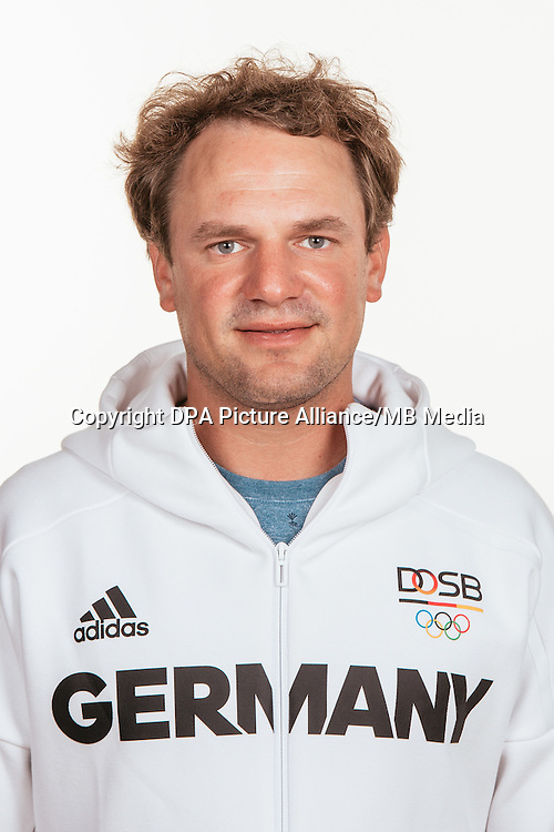 Max Groy poses at a photocall during the preparations for the Olympic Games in Rio at the Emmich Cambrai Barracks in Hanover, Germany, taken on 20/07/16   usage worldwide