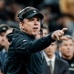Nov 19, 2017; New Orleans, LA, USA; New Orleans Saints head coach Sean Payton argues with an official during the second quarter of a game against the Washington Redskins at the Mercedes-Benz Superdome. Mandatory Credit: Derick E. Hingle-USA TODAY Sports