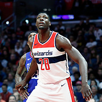 09 December 2017: Washington Wizards center Ian Mahinmi (28) vies for the rebound with LA Clippers guard Lou Williams (23) during the LA Clippers 113-112 victory over the Washington Wizards, at the Staples Center, Los Angeles, California, USA.