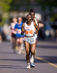Ottawa, Ontario ---25/05/08--- Gladys Asiba runs during the ING Ottawa Marathon, May 26, 2008..GEOFF ROBINS /