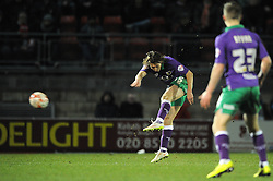 Bristol City's Luke Freeman takes a shot at goal. - Photo mandatory by-line: Dougie Allward/JMP - Mobile: 07966 386802 - 03/03/2015 - SPORT - football - Leyton - Brisbane Road - Leyton Orient v Bristol City - Sky Bet League One