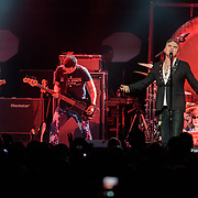 WASHINGTON, DC - November 30th, 2017 - Morrissey (center) performs at The Anthem in Washington, D.C. with guitarist Box Boorer, bassist Mando Lopez and drummer Matt Walker. (Photo by Kyle Gustafson / For The Washington Post)