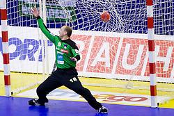 Gorazd Skof of Slovenia during handball match between Spain and Slovenia in  Main Round of 10th EHF European Handball Championship Serbia 2012, on January 25, 2012 in Spens Hall, Novi Sad, Serbia. (Photo By Vid Ponikvar / Sportida.com)