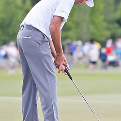 Apr 27, 2012; Avondale, LA, USA; Bubba Watson putts on the 9th hole during the second round of the Zurich Classic of New Orleans at TPC Louisiana. Mandatory Credit: Derick E. Hingle-US PRESSWIRE