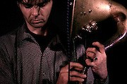 New York musician Thomas Truax and His hornicator, at the Boom Boom Room, Dublin, 28/072007..