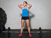 June 11, 2014; Baltimore, MD, USA; Ana-Alicia Marquez a current CrossFitter poses for a quick test shoot at CrossFit Harbor East. Mandatory Credit: Brian Schneider/www.ebrianschneider.com