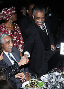 l to r: Congressman Charles B. Rangel and Rev. Al Sharpton at The Amsterdam News 100th Anniversary Gala held at the David H. Koch Theater at Lincoln Center on November 30, 2009 in New York City. © Terrance Jennings / Retna Ltd.
