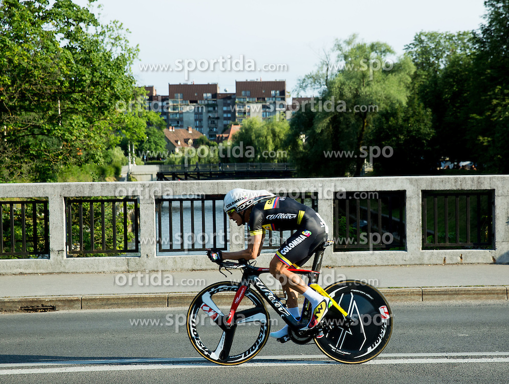 CANO ARDILA Alex Norberto (Colombia) of Team Colombia competes during Stage 1 of 22nd Tour of Slovenia 2015 - Time Trial 8,8 km cycling race in Ljubljana  on June 18, 2015 in Slovenia. Photo by Vid Ponikvar / Sportida