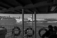 Turkey. Istambul. On board of the ferry boat on Bosphorus