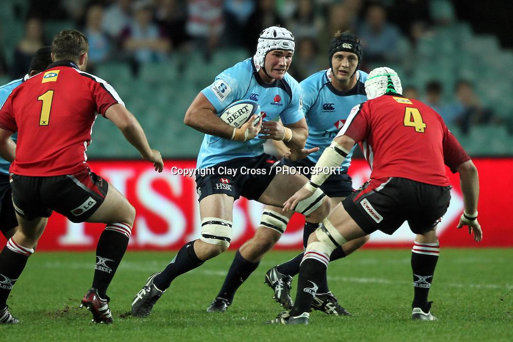 Ben Mowen. NSW Waratahs v Lions. Investec Super Rugby Round 14 Match, 21 May 2011. Sydney Football Stadium, Australia. Photo: Clay Cross / photosport.co.nz