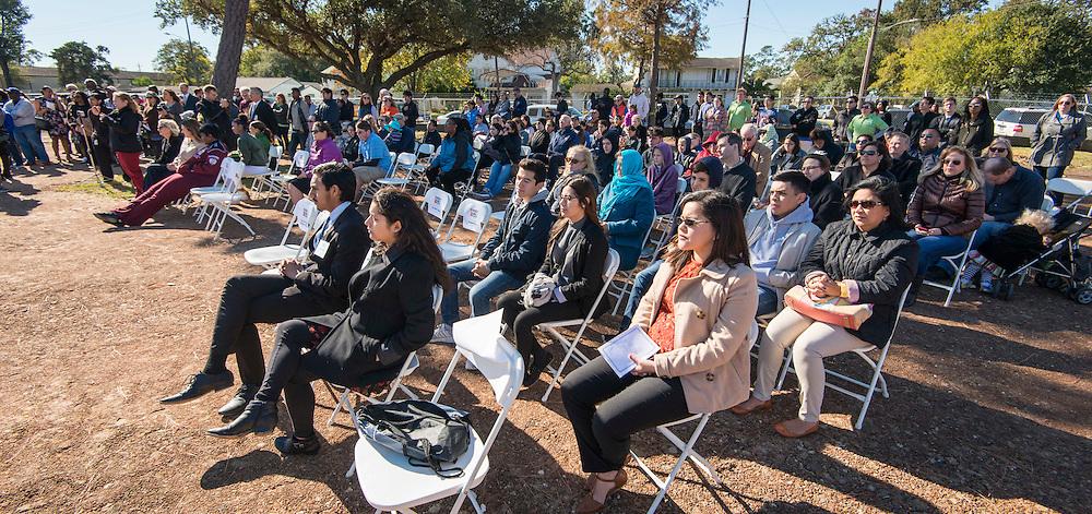 Groundbreaking ceremony for the new Energy Institute High School, November 19, 2016.