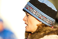 March 7th, 2009:  Anchorage, Alaska: Alaska Senior Senator Lisa Murkowski prior to the Start of the 2009 Iditarod Sled Dog Race.