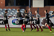 Ryan McGregror is congratulated after scoring Baldragon's opening goal -  Baldragon v St.John's in the U14 Urquhart Trophy Final (sponsored by DSA) at Dens Park, Dundee<br /> <br /> <br />  - &copy; David Young - www.davidyoungphoto.co.uk - email: davidyoungphoto@gmail.com