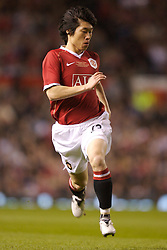 Manchester, England - Tuesday, March 13, 2007: Manchester United's Ju-sung Park in action against a Europe sall-star XI during the UEFA Celebration Match at Old Trafford. (Pic by David Rawcliffe/Propaganda)