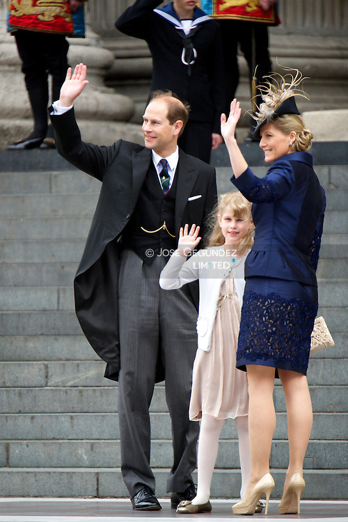 Duches of Essex attend the Queen Elisabeth II Diamond Jubilee at Saint Paul's Cathedral in London on June 5, 2012