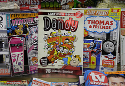 © Licensed to London News Pictures. 04/12/2012. London, U.K..The Dandy comic from publishing group DC Thompson, which first launched in 1937, 75 years ago today featuring characters such as Desperate Dan and Bananaman, published its final print edition after a slump in circulation. the revamped digital edition also launched today..Photo credit : Rich Bowen/LNP