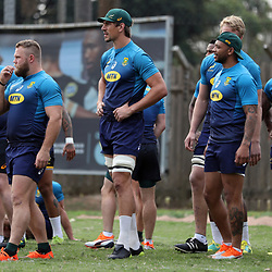 DURBAN, SOUTH AFRICA - AUGUST 13: Eben Etzebeth during the South African national rugby team training session at  Jonsson Kings Park on August 13, 2018 in Durban, South Africa. (Photo by Steve Haag/Gallo Images)