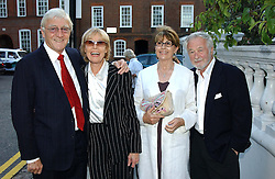 Left to right, MICHAEL & MARY PARKINSON, Actress NANETTE NEWMAN and her husband MR BRYAN FORBES at Sir David & Lady Carina Frost's annual summer party held in Carlyle Square, London on 6th July 2004.