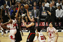 March 15, 2019 - Los Angeles, California, U.S - Los Angeles ClippersÃ• Danilo Gallinari (8) shoots during an NBA basketball game between Los Angeles Clippers and Chicago Bulls Friday, March 15, 2019, in Los Angeles. The Clippers won 128-121. (Credit Image: © Ringo Chiu/ZUMA Wire)