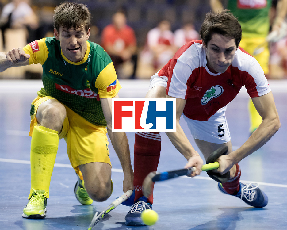BERLIN - Indoor Hockey World Cup<br /> Men: Austria - South Africa<br /> foto: UHER Dominic.<br /> WORLDSPORTPICS COPYRIGHT FRANK UIJLENBROEK