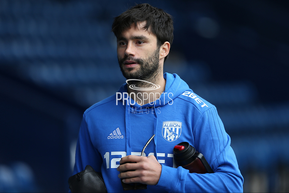 West Brom Albion Claudio Yacob (5) arrives at the ground before the Premier League match between West Bromwich Albion and Manchester City at The Hawthorns, West Bromwich, England on 28 October 2017. Photo by Gary Learmonth.