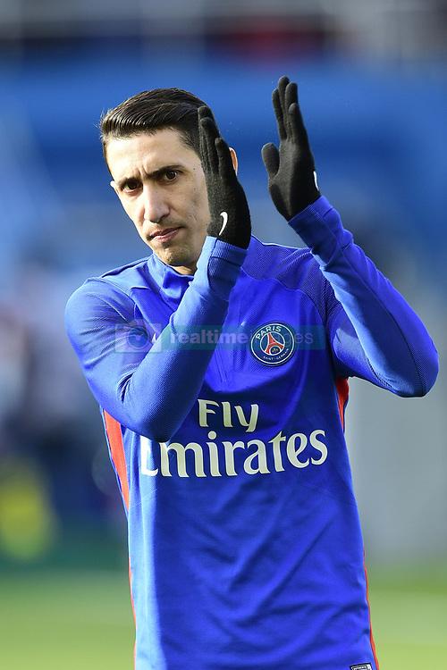 March 14, 2018 - Paris, France, France - echauffement des joueurs du PSG.DI MARIA Angel  (Credit Image: © Panoramic via ZUMA Press)