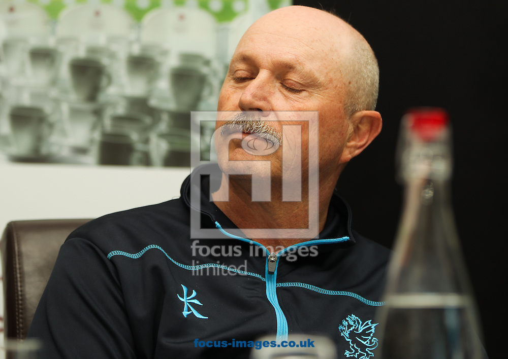 Somerset's batting coach David Houghton pictured during a press conference held during the Somerset County Cricket Club media day at the County Ground, Taunton, Taunton<br /> Picture by Tom Smith/Focus Images Ltd 07545141164<br /> 31/03/2014