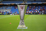 The Europa League Trophy during the Europa League Final match between Liverpool and Sevilla at St Jakob-Park, Basel, Switzerland on 18 May 2016. Photo by Phil Duncan.