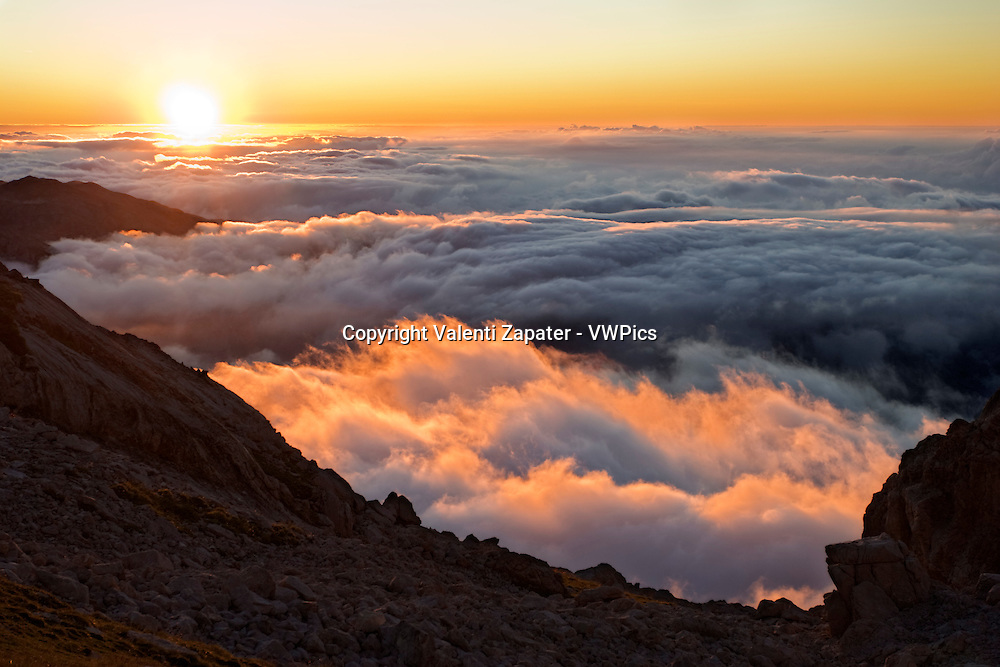Picos de Europa National Park: sunset from Collada del Agua